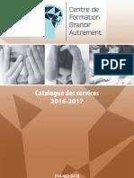 Centre de Formation Grandir Autrement, catalogue des services
