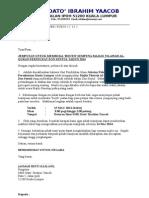 Surat Jemputan Dan Maklumbalas Membuka Booth