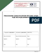 Procedure qualification report