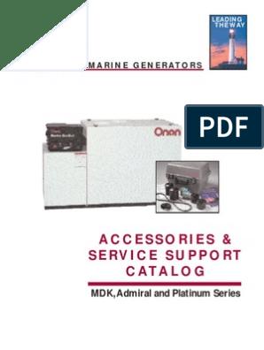 Onan Marine Accessories Catalog | sel Engine | Switch on