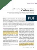 A Novel Generalized Ridge Regression Method for Quantitative Genetics