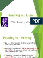 Hearing vs Listening