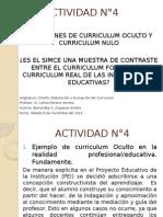ACTIVIDAD N°4 MGAE 2014 Curriculum