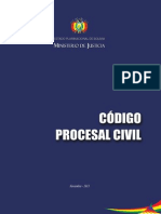 Codigo Procesal Civil de Bolivia