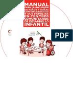 Manual para la inclusión de niños y niñas con discapacidad y sus familias en los Centros Comunitarios de Desarrollo Infantil