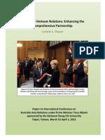 Thayer Australia Vietnam Relations Enhanciung the Comprehensive Partnership
