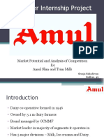 Summer internship report - AMUL (Marketing)