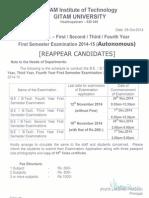 Autonomous Exam Schedule