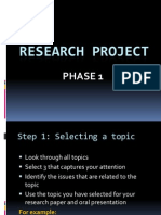 1. Research Project Phase 1