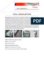 Foil Insulation | Foil Loft Insulation| Under Floor Insulation
