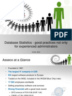 Database Statistics - Good Practises Not Only for Experienced_ Administators