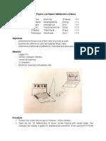 lab report - mathematics of music 11-3