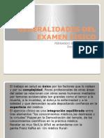 Generalidades Del Examen Fisico