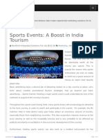 Sports Events- A Boost in India Tourism
