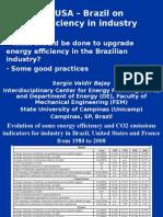Sergio Valdir Bajay - Energy Efficiency in the Brazilian Industry