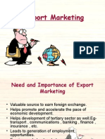 Export Marketing