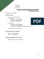 b1. Plant Performance & Economic Summary Sheet