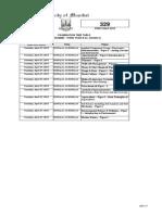 Tybsc Timetable 2015