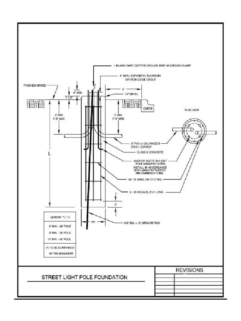 Street Light Pole Foundation Details