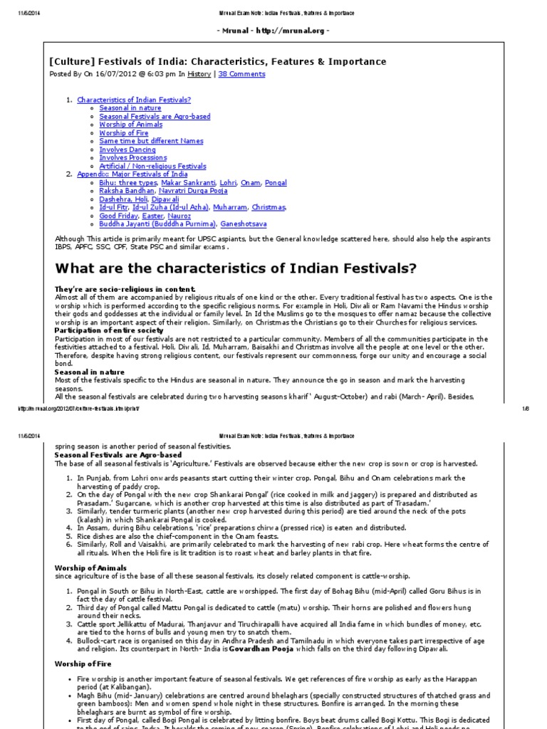 Indian Festivals, Features & Importance | Christmas | Religion And ...