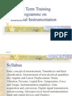 Industrial Instrumentation Notes