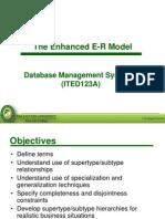 Lesson 3 - Enhanced ER Model