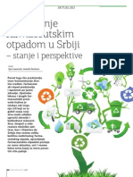 Upravljanje farmaceutskim otpadom u Srbiji - stanje i perspektive