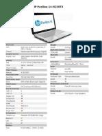 HP14-N238TX Pavilion
