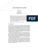Parameter estimation for text analysis