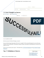 50 Great Thoughts, Quotes, Formulas & Definitions on Success