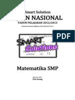 Smart Solution Un Matematika Smp 2013 (Skl 1.1 Operasi Hitung Bilangan)