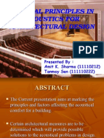 General Principles in Acoustics for Architectural Design