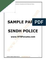 SSU-Sindh Police Sample Paper