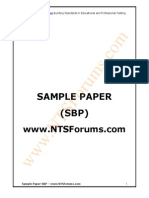 Sample Paper State Bank of Pakistan 2014