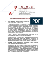 DTT and the Conditional Access Debate an SOS Fact Sheet PDF