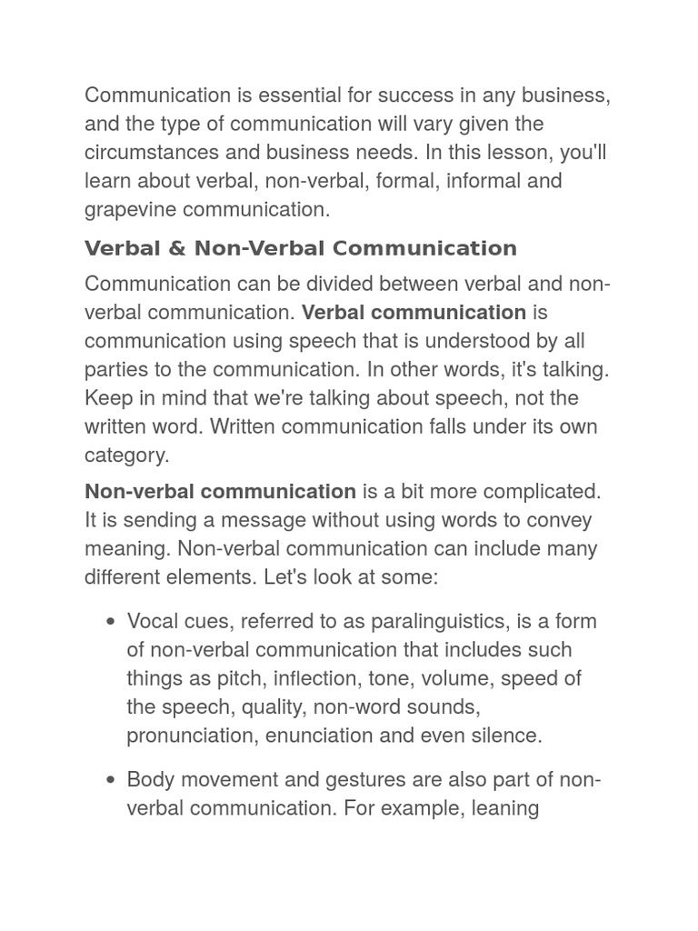 Nonverbal communication and its types 54