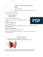 Calcium Metabolism (PTH, Vitamin D, and Calcitonin)
