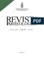 Revista Arheologica, vol. V, nr. 2, Chişinău 2010