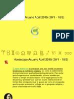 Horoscopo Acuario Para Abril 2015