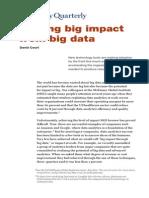 Getting Big Impact From Big Data