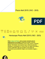 Horoscopo Piscis Para Abril 2015
