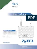 Zyxel P 2812HNU Fx Manual