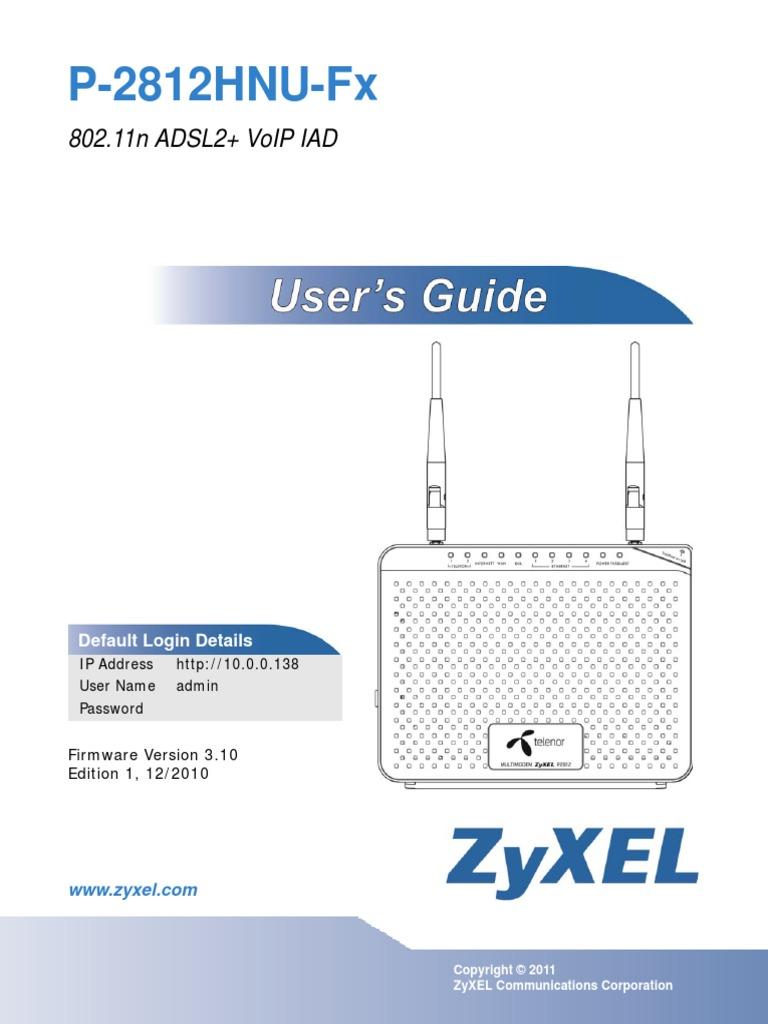 Zyxel P 2812HNU Fx Manual | Wireless Lan | Voice Over Ip
