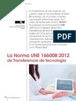 La Norma UNE 166008-2012 de Transferencia de Tecnología