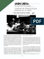 Estimulación temprana en el Perú