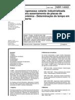NBR 14083-1998 - Argamassa Colante Industrializada Para Assentamento de Placas de Cerâmica - Determinação Do Tempo Em Aberto