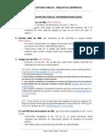 ESCRITURA PÚBLICA - NORMAS FEDERAIS E ESTADUAIS (MG)