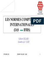 LES NORMES COMPTABLES INTERNATIONALES (IAS IFRS)