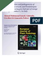Characterisation and Pathogenicity of Pestalotiopsis
