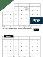 health 2014-2015 calendar